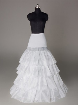 Nylon A-Linie 4 Tier Bodenlang Slip Style/Hochzeit Petticoats