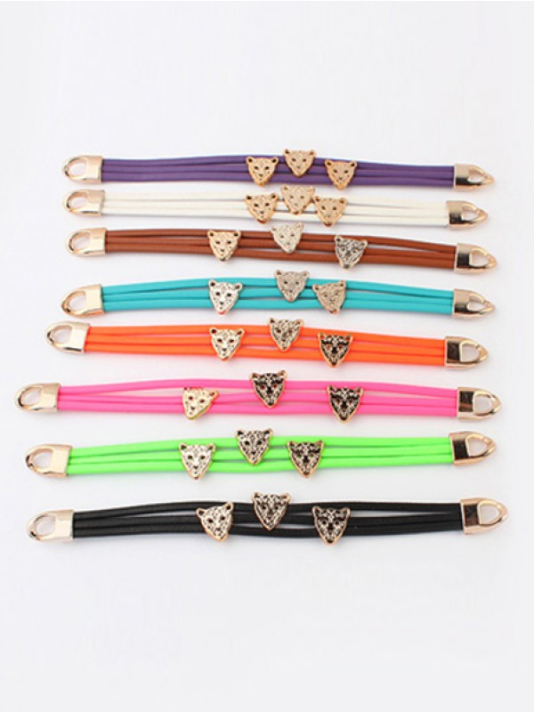 Occident Candy colors Sommer All-match Leopard head Hot Sale Armbänder