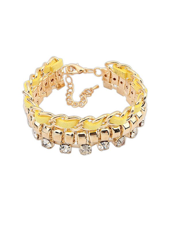 Occident Fashionable New Flash Drilling Woven Hot Sale Armbänder